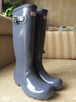 Wholesale Brand New Women Fashion Rubber Rainboots Woman Knee High Waterproof Wellies Boots Water Shoes Multi Colors Good Quality TS8