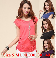 Polyester xxxxl - New Summer Plus Size Women T Shirt Fashion Leisure Tops For Women Slim Short Sleeve T Shirt Size S XL XXL XXXL XXXXL