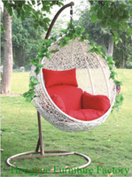 Wholesale Outdoor rattan egg shape hammock chair furniture supplier