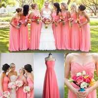 Plus Size Formal Bling Maid of Honor Coral Orange Beach Dres...