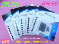 Wholesale NEW GB Micro SDXC Class TF Memory Cards with Free SD Adapter Retail Package memory card sdxc FREE DHL01