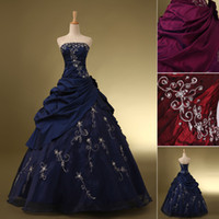 Princess In Stock 2015 Cascading Beaded Ruffles Dark Navy Cr...