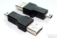 Wholesale 500pcs High Quality Black USB A to B pin USB Cable Adapter For MP3 MP4 phone DHL FEDEX