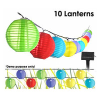 Wholesale Outdoor LED Solar Lamps Solar Powered Chinese Lanterns Mini Colorful Lantern String Lighting Garden Christmas Decoration Lamp M long