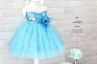 New Frozen dress Girl dress Frozen Children's clothes free s...