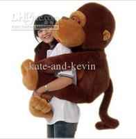 "Teddy Bear Brown Plush Wholesale - 51"" Big Mouth Monkey Pillow PP Cotton Stuffed Monkeys Animals Christmas Gifts Plush Toys Doll"