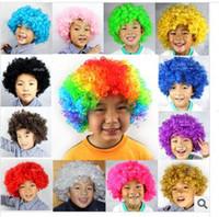 Wholesale Blast fan hair color wig festival performance dance supplies clown wig multicolor