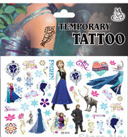 Wholesale Frozen D Fashion Waterproof Elsa Anna Olaf Hans Kristoff Sven Body Art Tattoo tattoos Temporary stickers hottest Party Supplies kids gifts