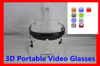 Wholesale 98 inch D Portable Video Glasses LCD display Support video D format side by side Music Picture E Book micro USB P