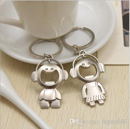 Wholesale - - F801 lovers Cute bottle opener music lover couple Keychain Key Chain Wedding favor gift
