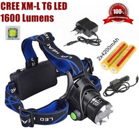 Wholesale ALONEFIRE HP79 CREE XM L T6 LED Lumens Rechargeable Zoom led Headlights CREE Headlamps x18650 Battery mAh Charger