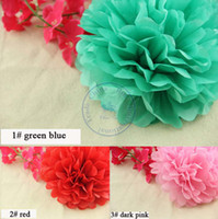 Wholesale 15cm inch Tissue Paper Flowers balls lanterns Party Decor Craft For Wedding Decoration multi color option