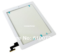 apple ipad replace - Touch panel For iPad Digitizer ipad2 Touch screen Assembly with home button replace Adhesive sticker Camera Holder