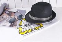 Wholesale promotions Stingy Brim fedora Hats summer hat sun hat Panama Straw Hats Fedora Soft men women hat colors