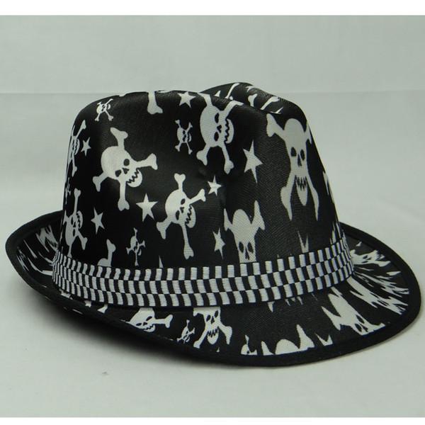 Skull Hats Wholesale Wholesale Skull Fedora Hats