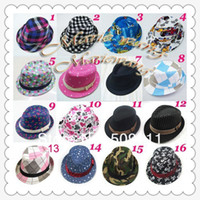 Boy fedora - Baby kids children s Caps accessories hat boys grils hats fedora hat mixed color dandy