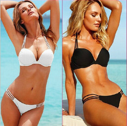 Sexy Push Up Bikini Sets Beachwear Woman Swimwear Suit Padded Swimming Suit Bikini Suits 2 Colors S M L