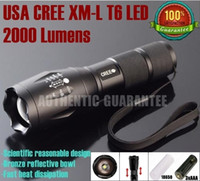 Ultrafire 2000lm LED Flashlight UltraFire E17 CREE XM-L T6 2000Lumens led Torch light Zoomable LED Flashlight Torch lamp For 3xAAA or 1x18650