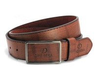 Wholesale 2014 Men s Unisex Belts Male strap brushed buckle men artificial leather male casual fashion belts white black Blown