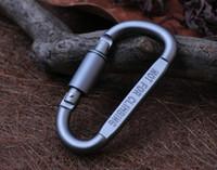 Cheap D Shape Outdoor Aluminum Alloy Climbing Carabiner Lock Hung Mountaineering Buckle Outdoor Rope Buckle Hook ZO72