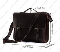 Wholesale Hot Sale Men Messenger Bag Men Brown Leather Handbags Mens Briefcase