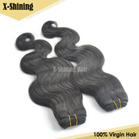 Indian Virgin Hair Body Wave 100% human hair From Indian Temple 100% Virgin Hair 1pc Sample 100g Bundle Human Hair Weaves Natural Black Can Dye & Bleach Indian Hair Weft Free Shipping