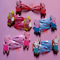 Cheap Barrettes Peppa pig Best metal Animal hairpin clip