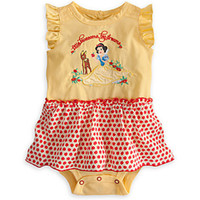 Girl Summer 100% Cotton Wholesale - Summer baby girl cartoon Snow White romper summer