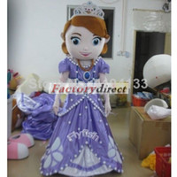 Mascot Costumes Unisex People sofia the first princess Mascot Costume cartoon costumes advertising mascot animal costume school mascot fancy dress costumes