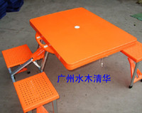 Plastic Outdoor Table Outdoor Furniture Orange folding tables and chairs one piece tables and chairs beach chairs outdoor tables and chairs picnic table thickening abs