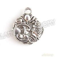 Chains Fashion Pendants Fast Delivery 90pcs lot Antique Silver Plated Pendant Zinc Alloy Carp &Lotus Shape Charms Fit Jewelry Making DIY 143127