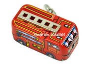 2-4 Years Red Metal Drop Shipping!Baby Wind up Tin Toys Classic Toys Tin Fire Truck Funny Firetruck Car Toys 12436 b007