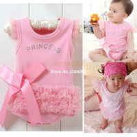 Casual Dresses Strapless A Line dresses Hot Sale 2014 Cute Fashion Baby Infant Toddler Romper Girl Wear Princess Lace Pink Romper Jumpsuit Clothes Outfit b7 SV002323