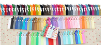 Wholesale Sale Interchangeable Chevron Hair Tie Ponytail Holders Stretchy Elastic Knitted Ties Assorted Rainbow Set Hair Accessory