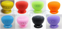 2 Universal Outdoor portable Wireless Mini Mushroom Bluetooth Speaker Waterproof Silicone Sucker Hands Free Speakers For iPhone PC outdoor