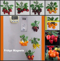 Wholesale New Simulation of Artificial Foam Fruit Wall Stickers Cartoon Fashion Fridge Magnet For Novelty Home Decor