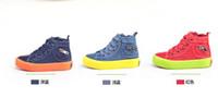 Wholesale Hot sale Fashion child canvas shoes high skateboarding shoes male female child single shoes denim sport shoes sneakers