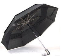 Wholesale Big diameter amp short closing car umbrella two fold golf umbrellas hex angular T steel shaft auto open double layer windproof travelling
