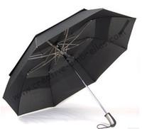 Wholesale Big diameter short closing car umbrella two fold golf umbrellas hex angular T steel shaft auto open double layer windproof travelling