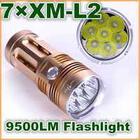 Wholesale New SKYRAY KING CREE XM L XML x L2 LED lm LED Flashlight Torch Lamp for Camping hiking trekking hunting fishing