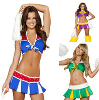The uniform temptation cheerleading uniforms - Special World Cup sexy cheerleading models clothes costumes pole dance dress uniform temptation club wear S39