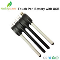 Wholesale Factory Super slim bud touch battery with usb charger free DHL