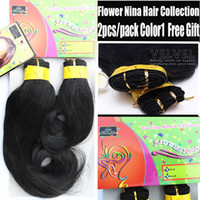 Curly america curl - 5PCS Flower NINA Color1 Synthetic Hair Extension and Weaves Black quot quot Premium Curl African America Hair Weave