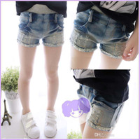 Shorts Girl Summer New Fashion Girls Shorts Kids Shorts Fashion Skinny Jeans Summer Shorts Kids Pants Denim Shorts Ripped Jeans