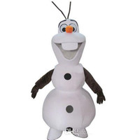 Mascot Costumes People Angel 100% Real Pictures! Free Shipping! 2014 New Deluxe Smiling Frozen Snowman Olaf Mascot Costume