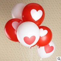Multicolor Heart PA Free shipping love heat balloon wedding party decoration balloon 12 inch round latex balloon100pcs lot