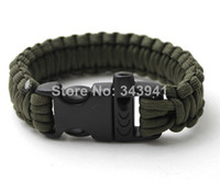Wholesale Outdoor Paracord Bracelets with Survival Whistle Buckle Parachute Cord Camping Traveling Kits