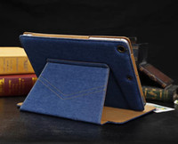 Wholesale Tablet PC Holster PU Leather Case For IPAD Air Mini Protective shell Flip around with stand Denim pants pocket hot sale new