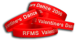Wholesale Customized Personalized screen print texture or logo silicone wristband for event P061430