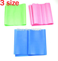 Resistance Bands Women non Free shiping Resistance BAND Elastic Stretch Band Yoga Pilates Exercise Workout Tubing Latex Fitness Flat strap 1200mm